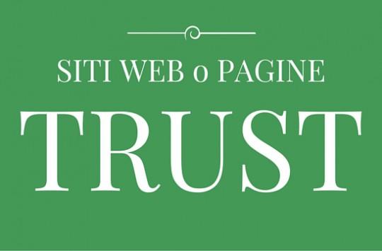 siti web pagine trust