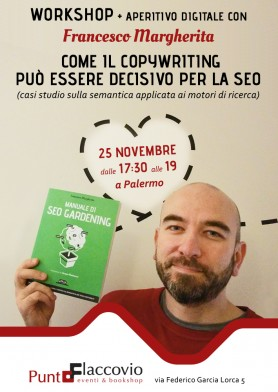 Workshop SEO a Palermo 25 novembre 2016