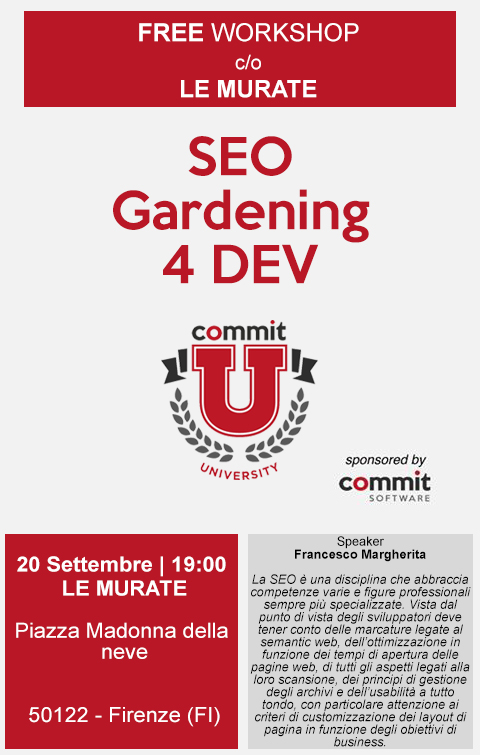 SEOgardening 4 dev locandina evento